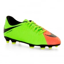 Nike Juniors Hypervenom Phade III Football Boots (Green)