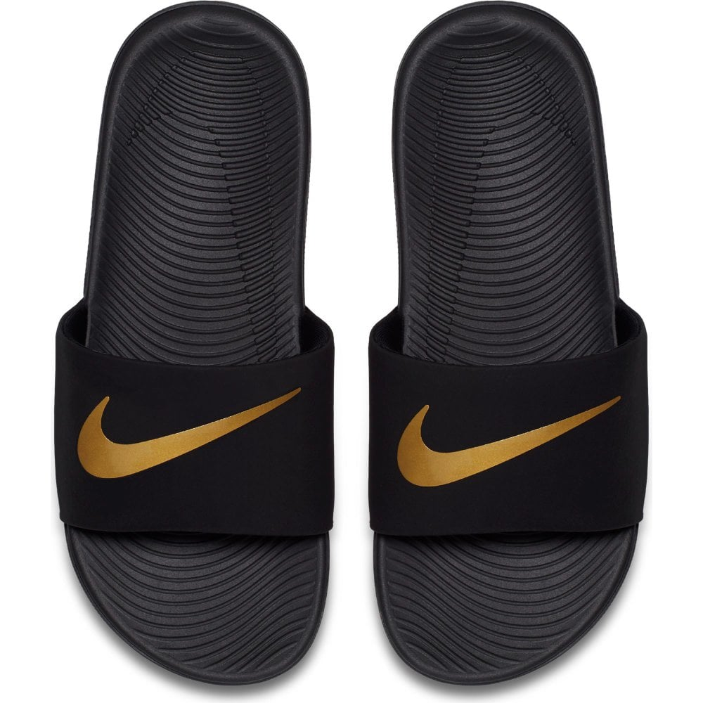 sports shoes f8c33 04674 nike slippers gold