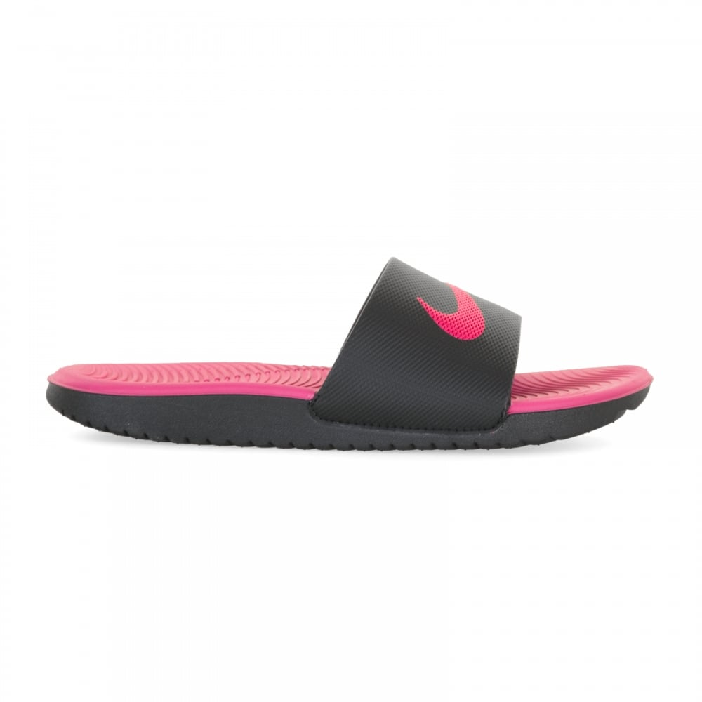 b8c0b28a186915 Nike Juniors Kawa Slide Flip Flops (Black Pink) - Flip Flops ...