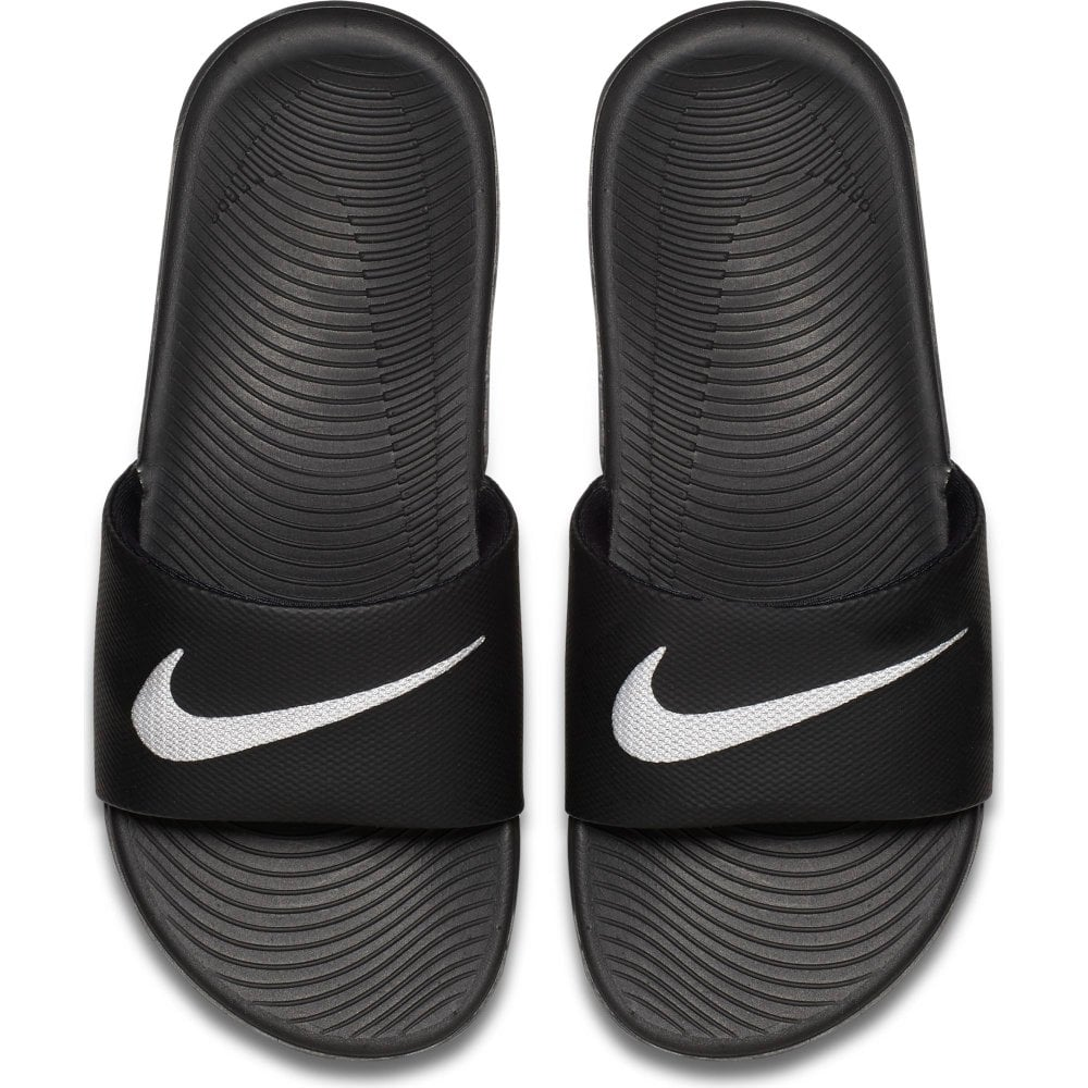 548a370d1 Nike Juniors Kawa Slide Flip Flops (Black White) - Kids from Loofes UK