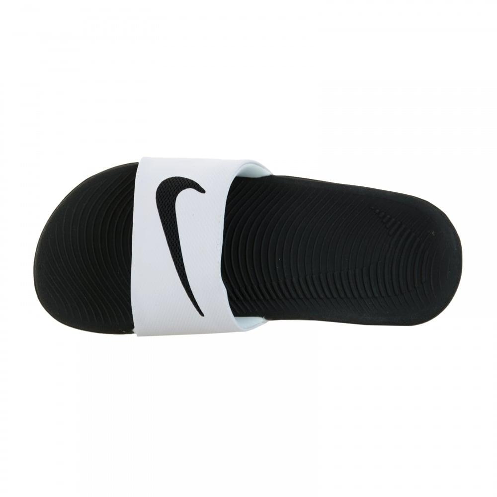 e3d8025f1 Nike Juniors Kawa Slide Flip Flops (White Black) - Kids from Loofes UK