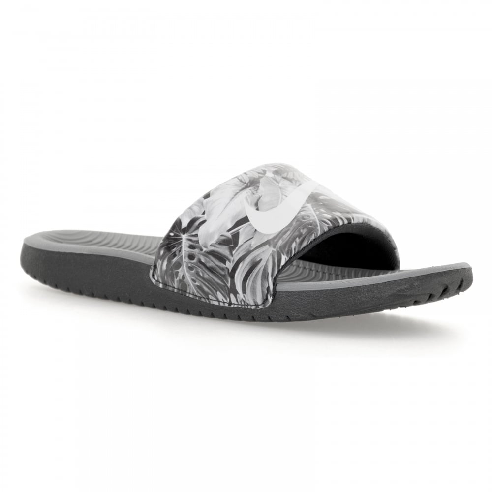 Black sandals juniors - Nike Juniors Kawa Slide Print Flip Flops Black