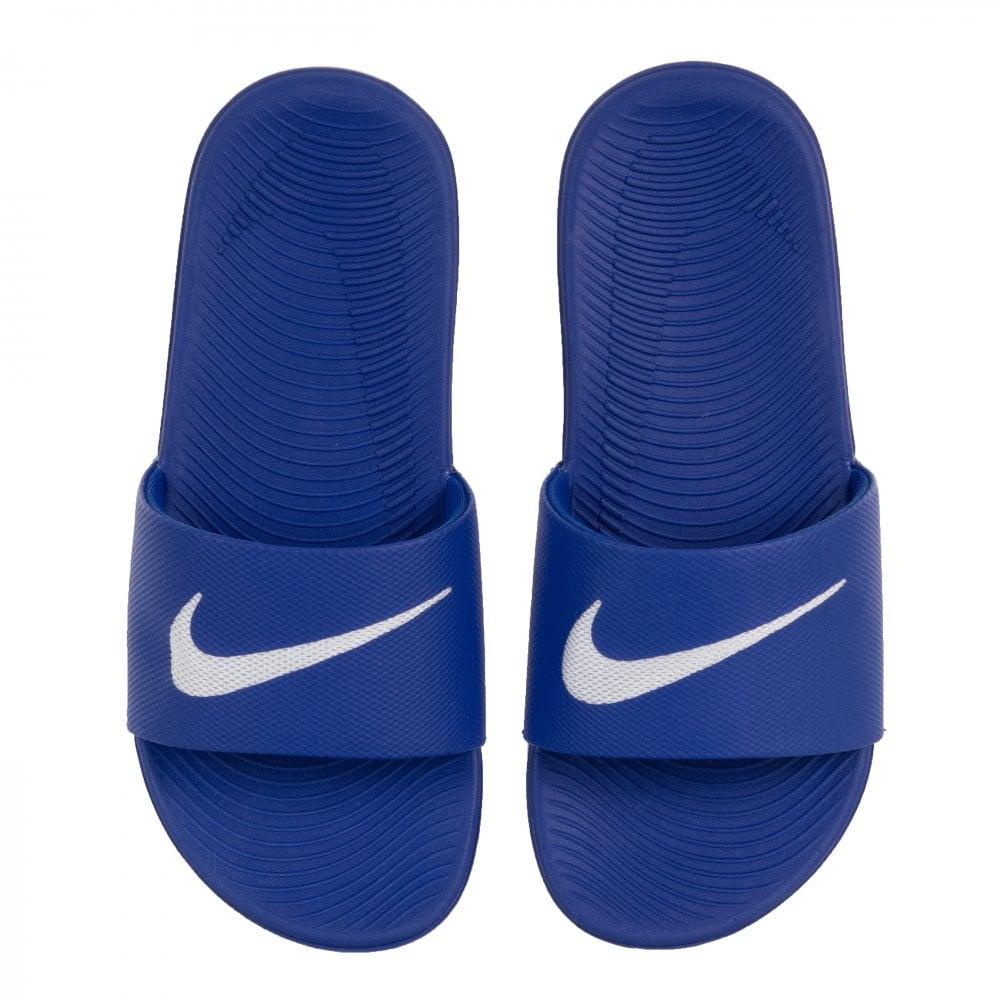 8449db522f3a Nike Juniors Kawa Slides (Blue) - Kids from Loofes UK