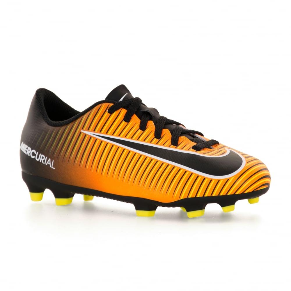 Nike Juniors Mercurial Vortex FG Football Boots (Orange)