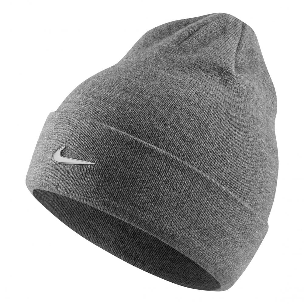 5dcd2238b43 NIKE Nike Juniors Metal Swoosh Knitted Beanie (Grey) - Kids from ...