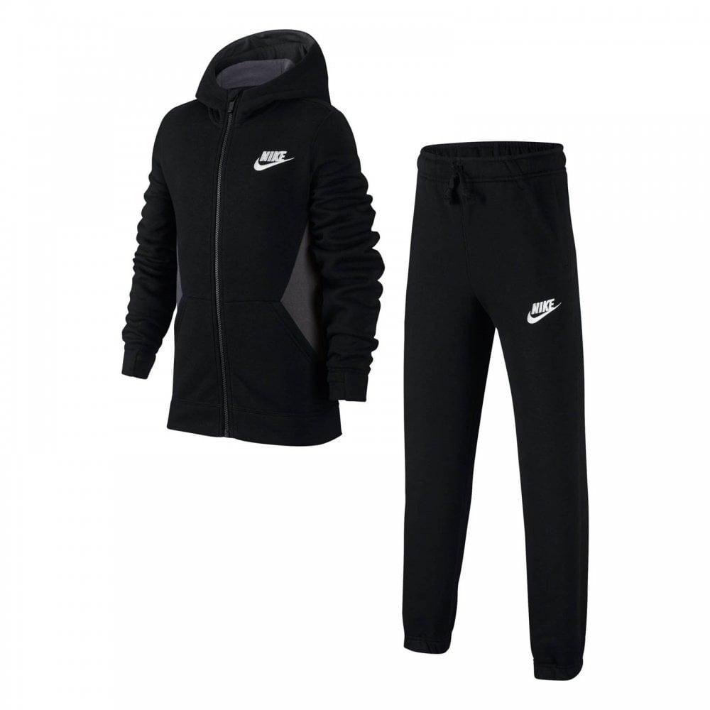 b42aeb6513bb NIKE Nike Juniors NSW Fleece Track Suit (Black) - Kids from Loofes UK