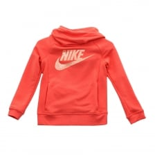 Nike Juniors NSW Modern 416 Hooded Top (Orange)