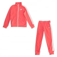 Nike Juniors NSW Tricot Track Suit (Pink/White)