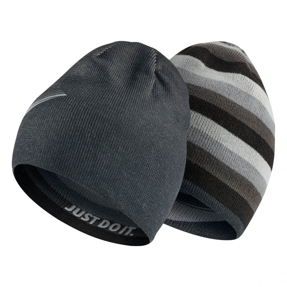 8c7f89b7d6dd1 Nike Juniors Reversible Knitted Beanie (Black) - Kids from Loofes UK