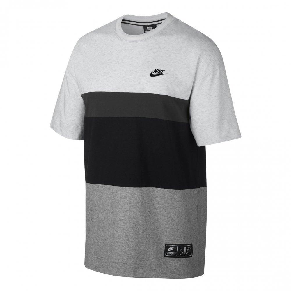 d97adef9 Mens Air Block Short Sleeve T-Shirt (Grey / Black)
