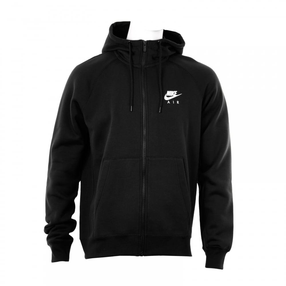 nike nike mens air heritage fleece hooded jacket black. Black Bedroom Furniture Sets. Home Design Ideas