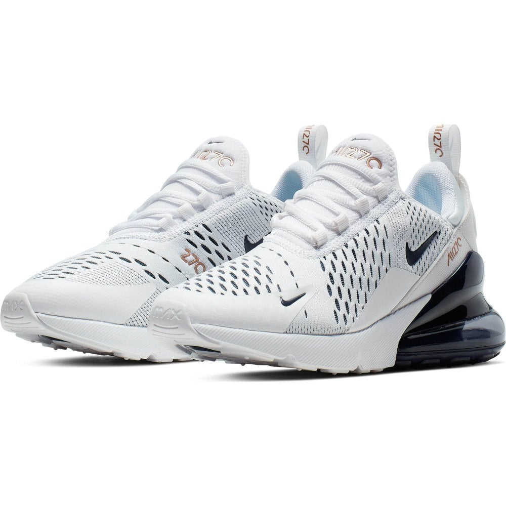 brand new 78dc9 fd628 Mens Air Max 270 Trainers (White/Navy)