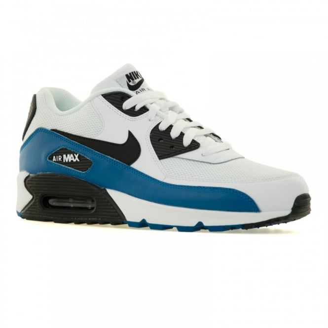 127bf630e4d nike mens air max 90 essential 216 trainers white black photo blue from loofes  uk