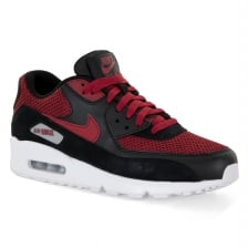 Nike Mens Air Max 90 Essential 317 Trainers (Black/Red)