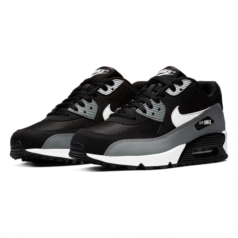 finest selection cede2 d9019 Nike Mens Air Max 90 Essential Trainers (Black   Grey   White)