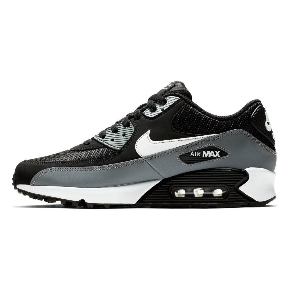 finest selection 1e3e2 a6039 Nike Mens Air Max 90 Essential Trainers (Black   Grey   White)