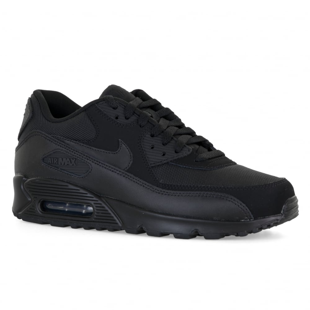 newest 14511 afefe Nike Mens Air Max 90 Essential Trainers (Black)