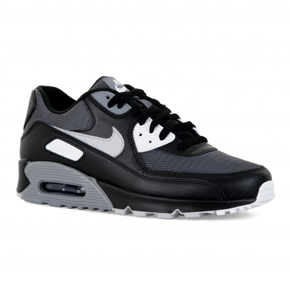 4365b66388f Nike Mens Air Max 90 Trainers (Black Grey) - Mens from Loofes UK