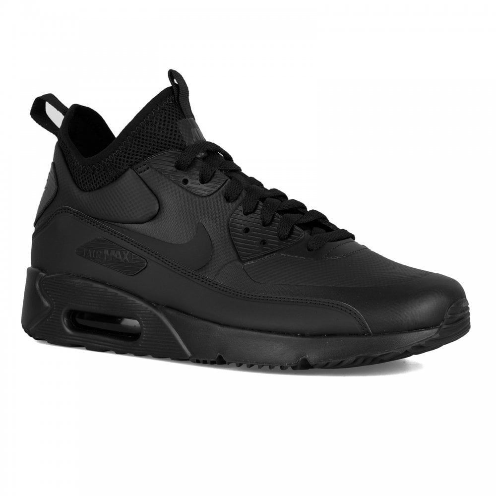 NIKE Nike Mens Air Max 90 Ultra Mid Winter Trainers (Black) - Mens ... 033ae40a1