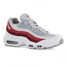 Nike Mens Air Max 95 Essential Trainers (White/Red)