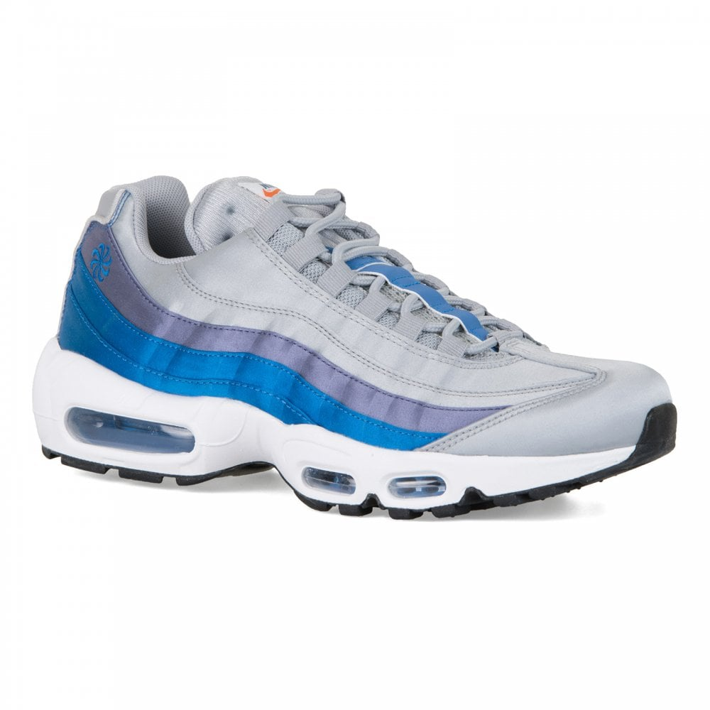 e0cd0ab5c Nike Mens Air Max 95 SE Trainers (Grey Blue) - Mens from Loofes UK