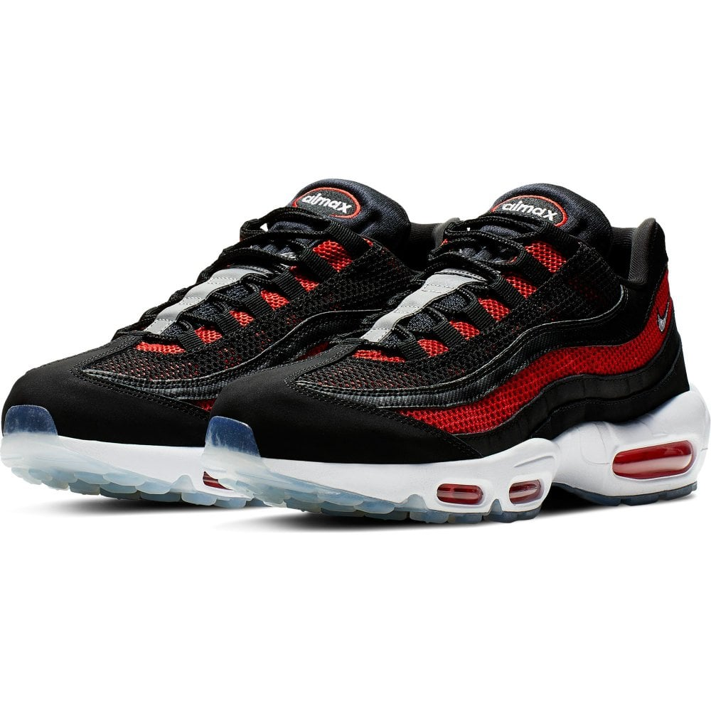 best sneakers b2d95 baeab Mens Air Max 95 Trainers (Black / Red)