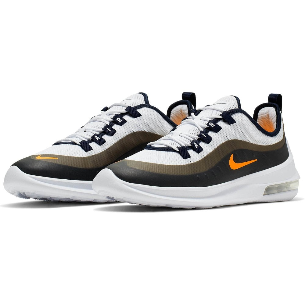 d052486049 NIKE Nike Mens Air Max Axis EP Trainers (White / Orange) - Mens from ...