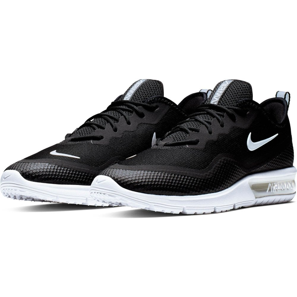mens black & white nike air max sequent 4.5 trainers | schuh