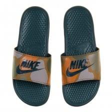 1f9c953b3 Nike Mens Benassi JDI Camo Print Flip Flops (Khaki)