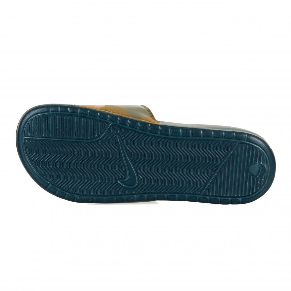 9cbbd2fbda2b Nike Mens Benassi JDI Camo Print Flip Flops (Khaki) - Mens from ...