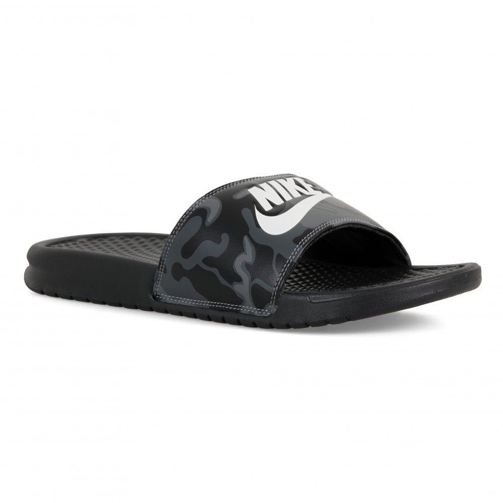 7884fa621843 NIKE Nike Mens Benassi JDI Camo Print Slides (Black) - Mens from ...