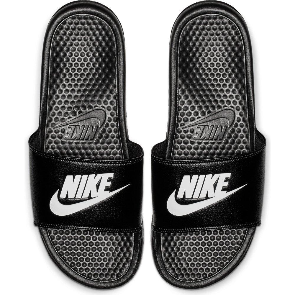 dc14ee32aaa0 Nike Mens Benassi JDI Slide Flip Flops (Black White) - Mens from ...