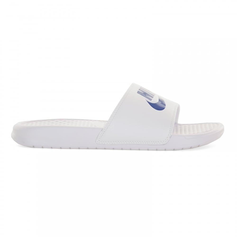 9d6d9552a5dd1d NIKE Nike Mens Benassi JDI Slide Flip Flops (White Black) - Flip ...
