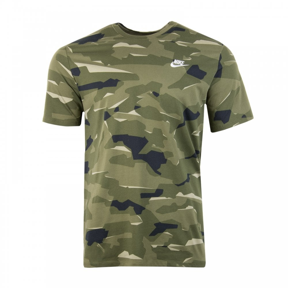 6679fa88 Nike Mens Club Camouflage T-Shirt (Olive) - Mens from Loofes UK