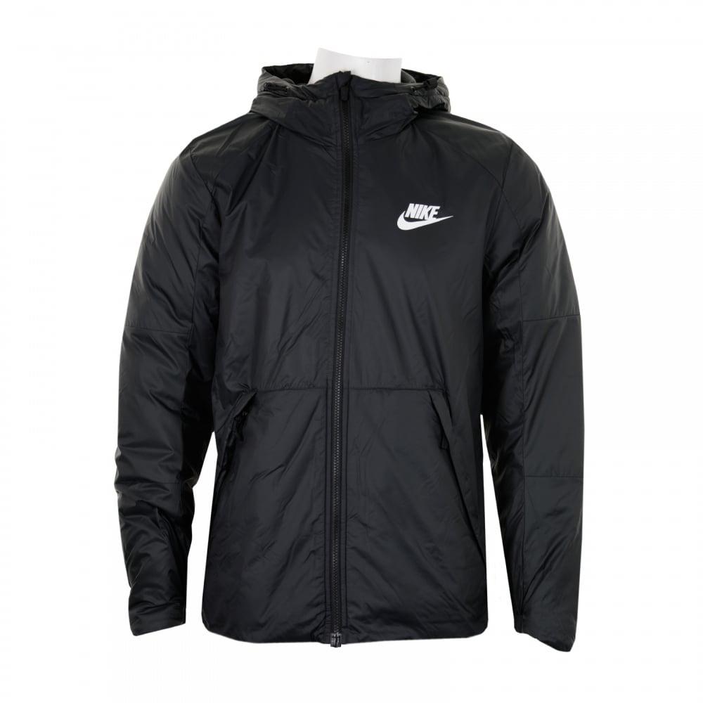 nike mens hooded fleece lined jacket black mens from. Black Bedroom Furniture Sets. Home Design Ideas