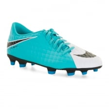Nike Mens Hypervenom Phade TF Football Boots (White/Blue)