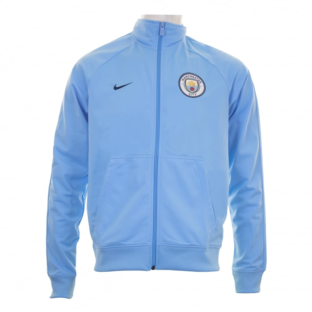 Nike Mens Manchester City 2017 2018 Track Jacket (Blue) - Mens from ... 749150b46