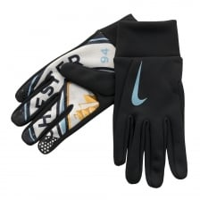 Nike Mens Manchester City Hyperwarm Gloves (Black)