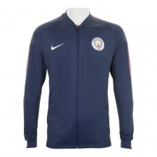 Nike Mens Manchester City Squad Track 2017/2018 Jacket (Navy/Purple)