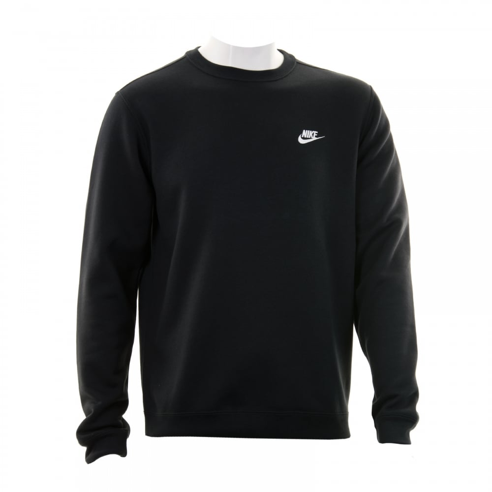 ca8a3bc7c991 Nike Mens NSW Fleece Crew Neck 316 Sweatshirt (Black) - Mens from ...
