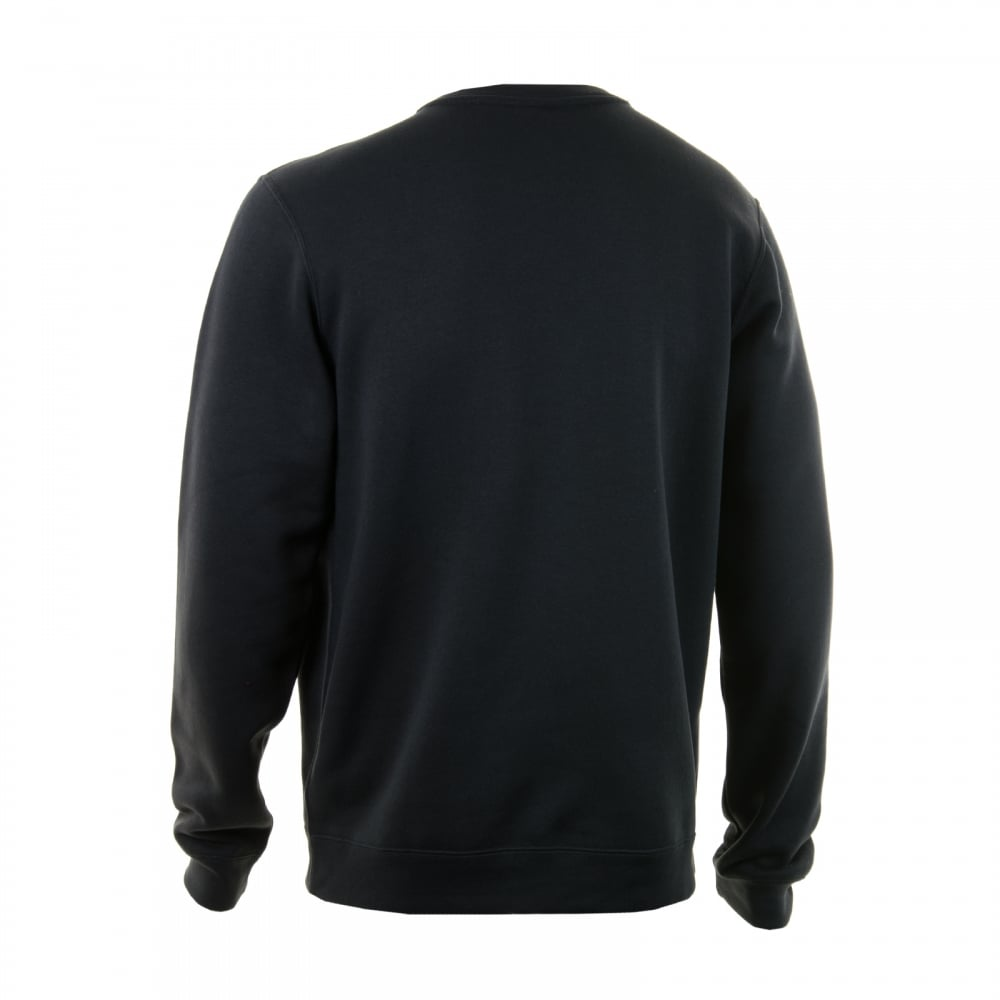 77f7f54dcc7c Nike Mens NSW Fleece Crew Neck 316 Sweatshirt (Black) - Mens from ...
