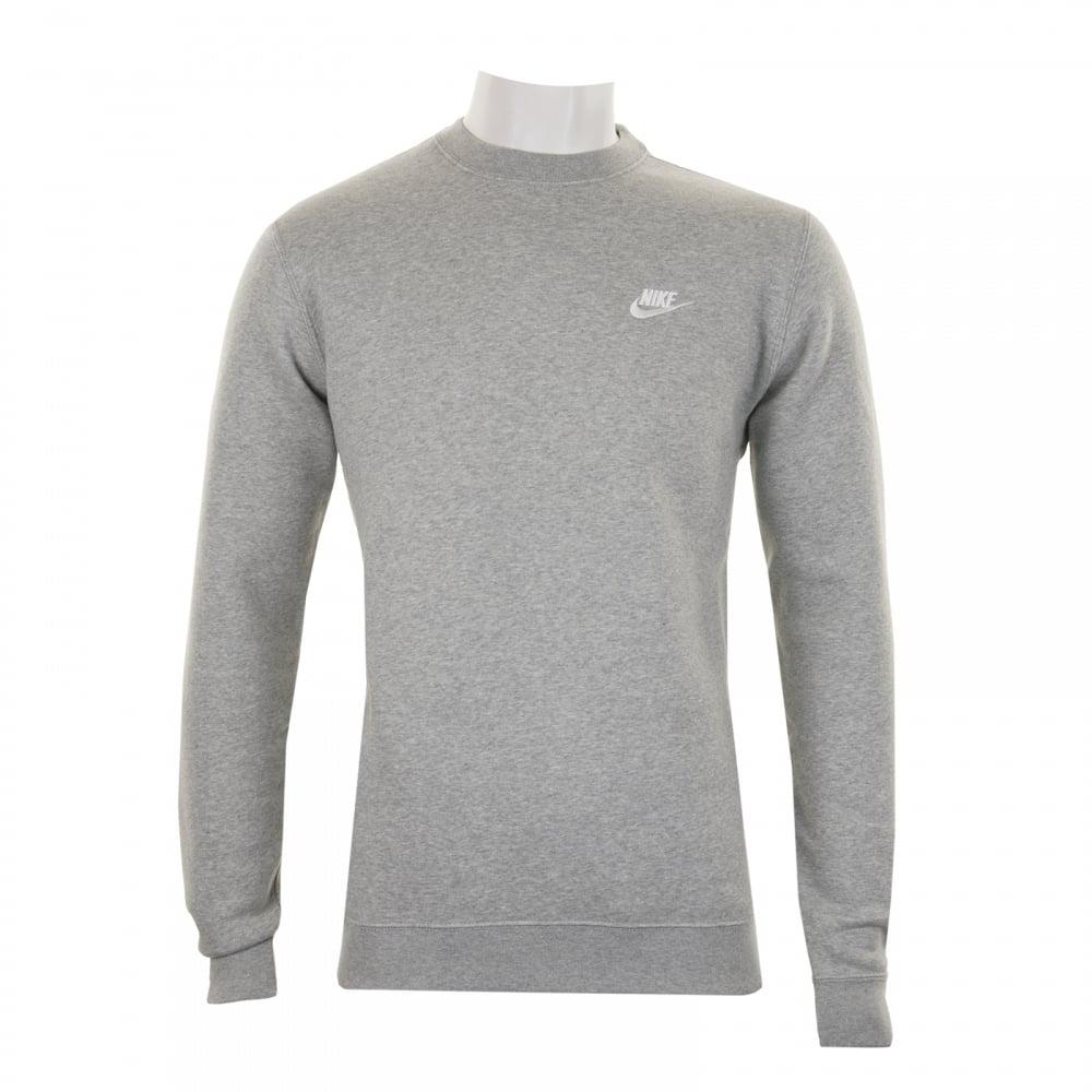 adf3299552b0 NIKE Nike Mens NSW Fleece Crew Sweatshirt (Grey) - Mens from Loofes UK