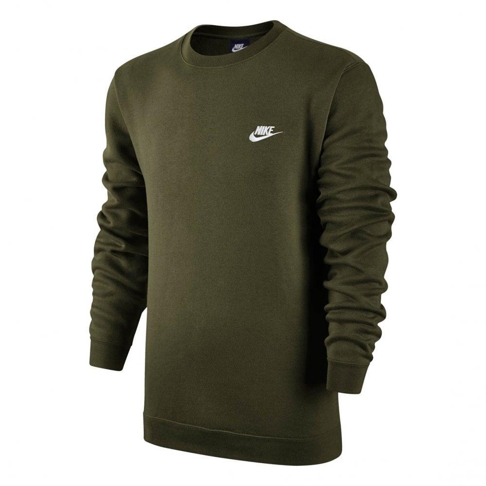bdd73e299cf0 Nike Mens NSW Fleece Crew Sweatshirt (Olive) - Sweatshirts from ...