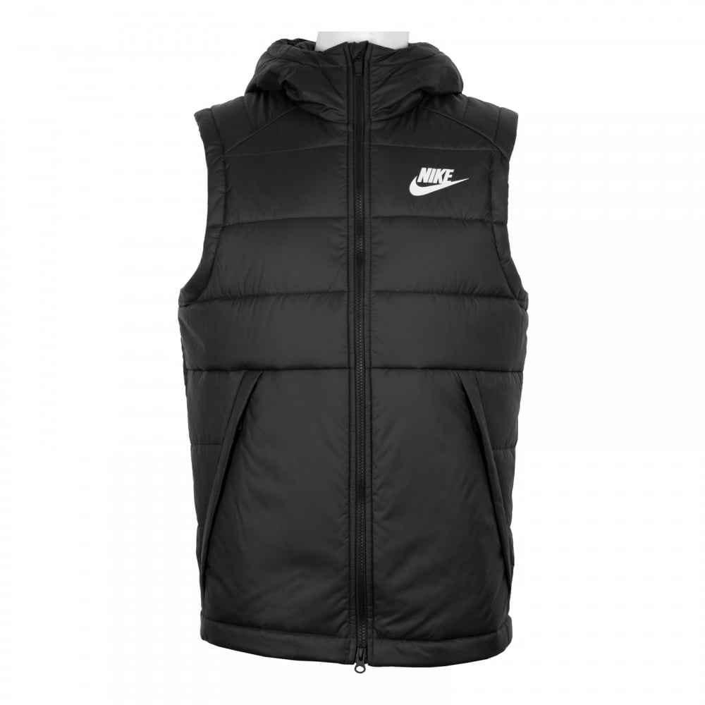 nike mens nsw sleeveless bodywarmer gilet black coats. Black Bedroom Furniture Sets. Home Design Ideas