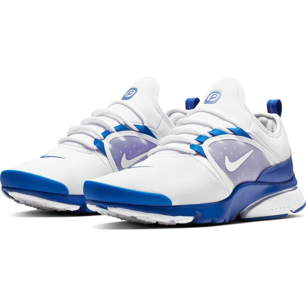 new style 30031 b71c8 Nike Mens Presto Fly World Trainers (White   Blue)