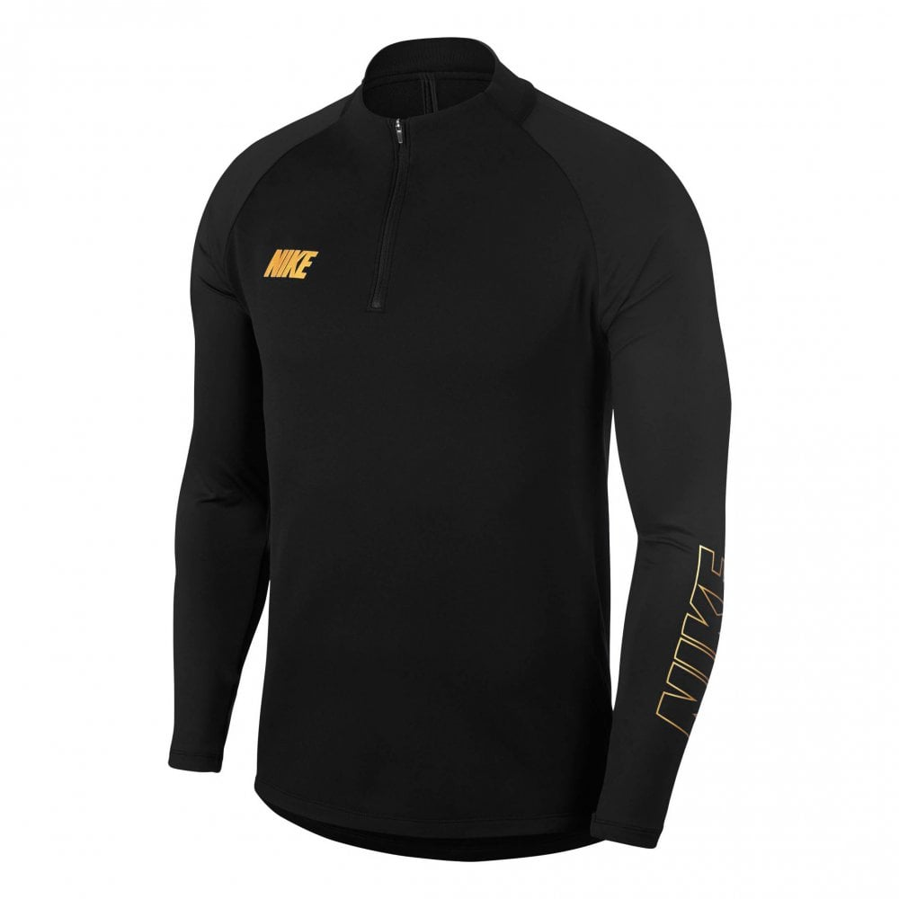 b5572d1d7026 Nike Mens Squad Dri-FIT Drill Top (Black   Gold) - Mens from Loofes UK