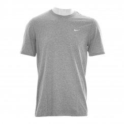 Nike Mens Swoosh Embroidered T-Shirt (Grey)