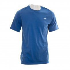Nike Mens Swoosh Embroidered T-Shirt (Royal)