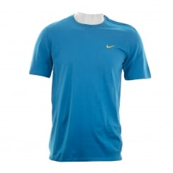 Nike Mens Swoosh Embroidered Tee T-shirt (Blue)