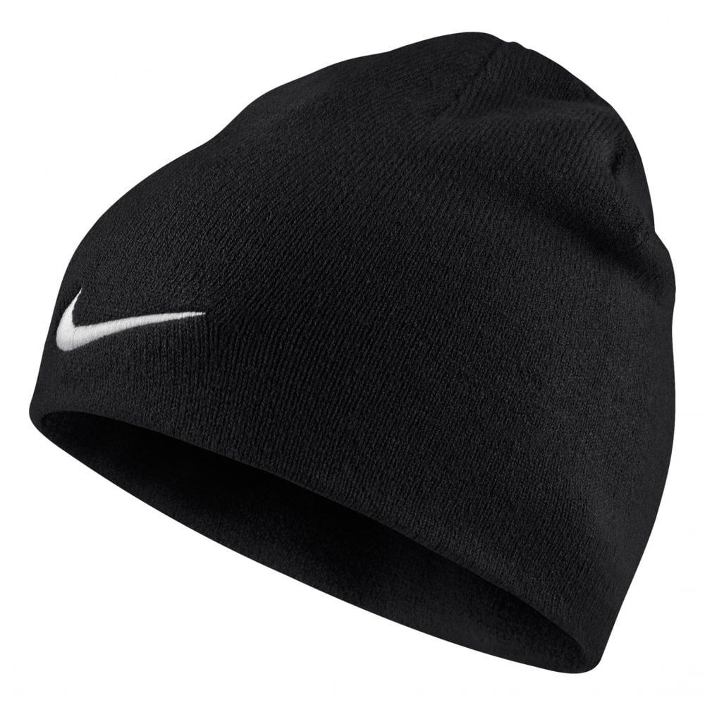 Nike Mens Team Embroidered Swoosh Knitted Beanie (Black) - Mens from ... 76e613c8c4db